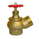 Вентиль бронзовый угловой d.65